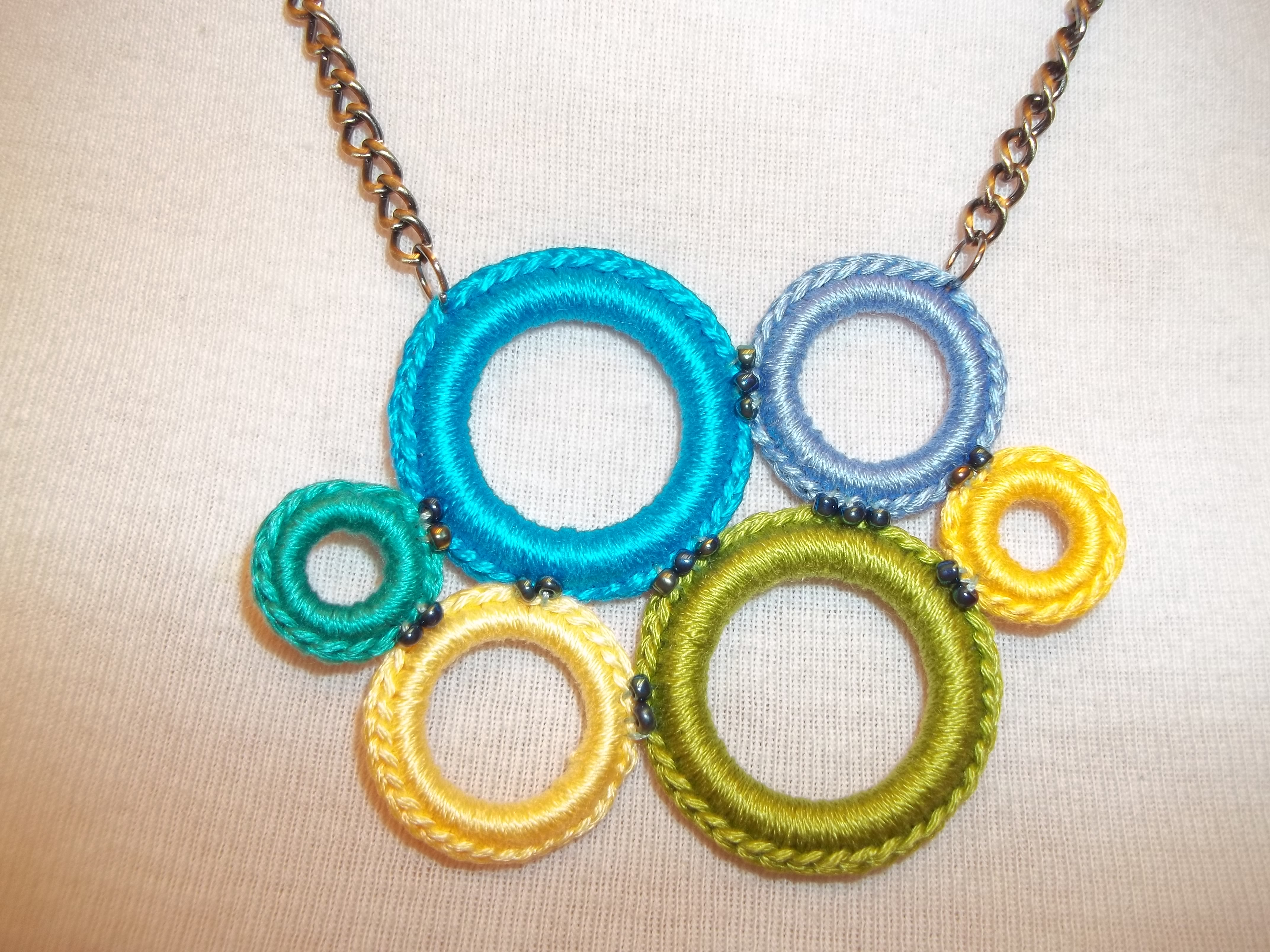 Free Crochet Ring Jewelry Patterns : Crochet Ring Necklace How To cre8tioncrochet